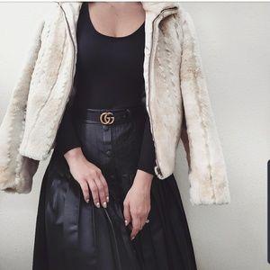 Kristen Blake Cream Faux Fur Coat